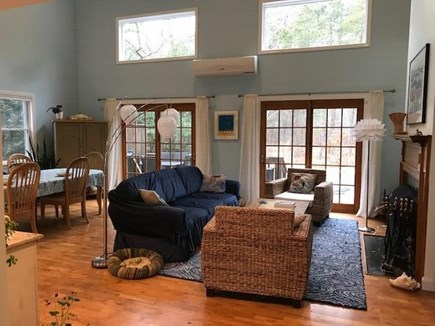 Wellfleet Cape Cod vacation rental - Living area w/ cathedral ceiling