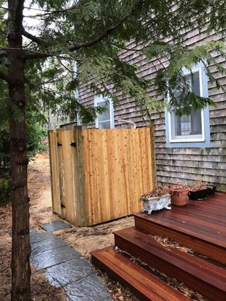 Wellfleet Cape Cod vacation rental - Kitchen deck and outdoor shower