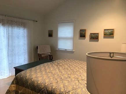 Wellfleet Cape Cod vacation rental - 2nd fl MBR with king has french doors to upper deck