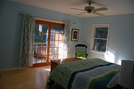 Wellfleet Cape Cod vacation rental - 1st fl MBR with king, french doors to back deck