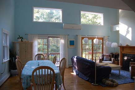 Wellfleet Cape Cod vacation rental - 2 story living-dining area