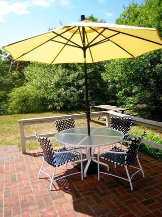 South Chatham Cape Cod vacation rental - Brick Patio off Family Room