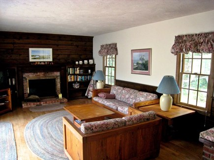 South Chatham Cape Cod vacation rental - Large Family Room with Fireplace