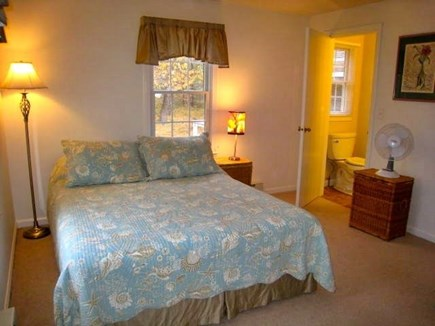 South Chatham Cape Cod vacation rental - Master Bedroom with Half Bath Queen size bed