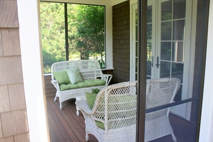 Eastham Cape Cod vacation rental - Screened Porch ~ Back Yard