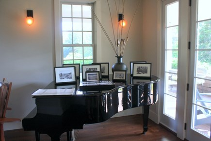 Eastham Cape Cod vacation rental - Living Room ~ Piano
