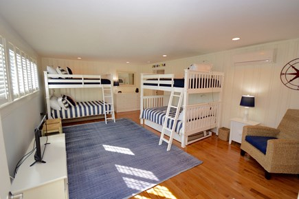 Orleans, MA Cape Cod vacation rental - Bunk room with TV and attached full bath