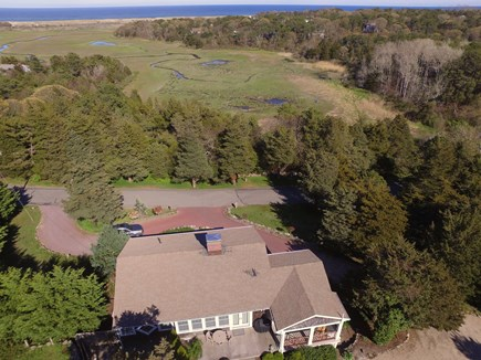 Orleans, MA Cape Cod vacation rental - Aerial of house w/ views of Pochet Marsh, Nauset Beach, Atlantic