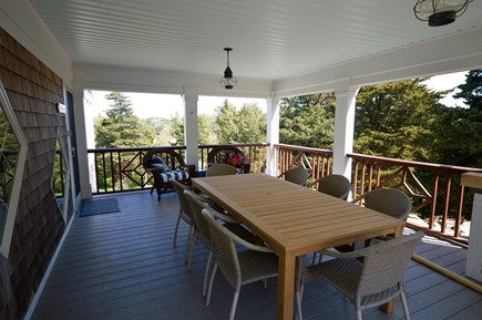 Orleans, MA Cape Cod vacation rental - Covered porch with outdoor dining and wetbar