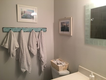 Hyannis Cape Cod vacation rental - Bathroom in hallway