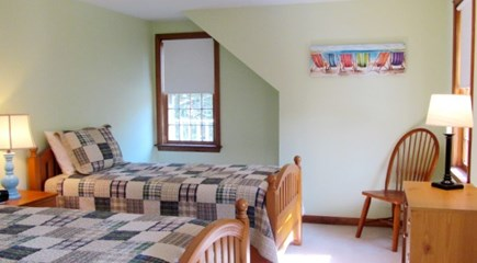 Falmouth, Old Silver Beach Cape Cod vacation rental - Guest bedroom with two twin sized beds