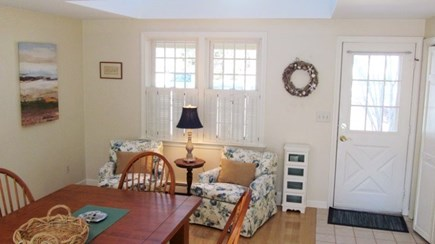 Falmouth, Old Silver Beach Cape Cod vacation rental - Dining room with door to outside