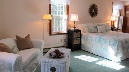 Falmouth, Old Silver Beach Cape Cod vacation rental - Master bedroom with sitting area