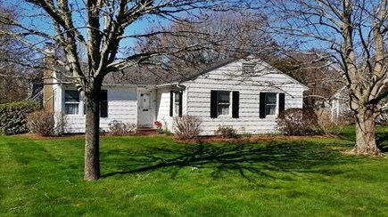 West Yarmouth Cape Cod vacation rental - Front entrance, large corner lot