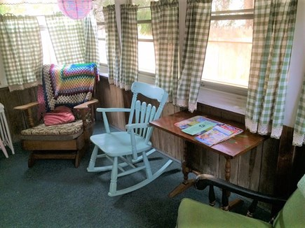 West Dennis Cape Cod vacation rental - Screened porch with access to side yard