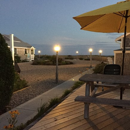 Beach Point / North Truro Cape Cod vacation rental - Center courtyard at dusk