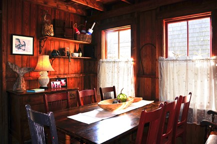 Truro Cape Cod vacation rental - The dining room has seating for 8.