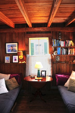 Truro Cape Cod vacation rental - Living room - snuggle in with a book or play a game with the kids