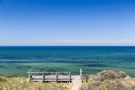 Truro Cape Cod vacation rental - A stunning view of Cape Cod Bay from our front porch.