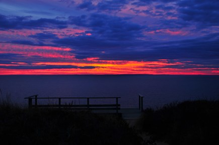 Truro Cape Cod vacation rental - A truly spectacular sunset taken from our front porch.