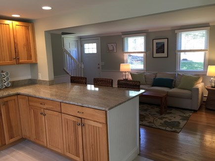 Brewster Cape Cod vacation rental - Kitchen with breakfast peninsula & stools