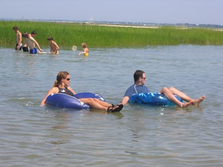 Orleans Cape Cod vacation rental - Having fun floating streamside high & changing tides