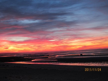 Orleans Cape Cod vacation rental - Sunset at Skaket Beach low tide