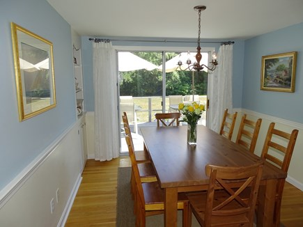 Orleans Cape Cod vacation rental - Lovely dining area, sits 8, sliders to deck