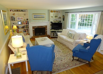 Orleans Cape Cod vacation rental - Spacious 13 x 20 Living room with flat screen, bay window