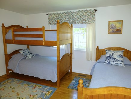 Orleans Cape Cod vacation rental - Bunk bed room with twin bed, sleeps 3