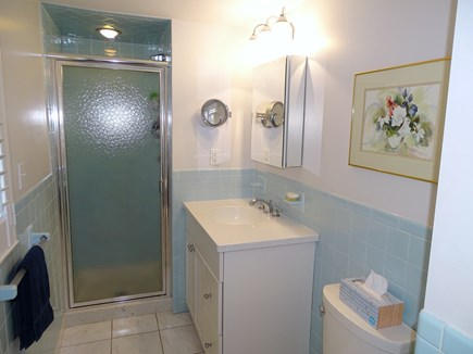 Orleans Cape Cod vacation rental - Master bathroom with new vanity, tile, fixtures
