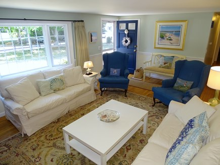 Orleans Cape Cod vacation rental - Living room opens to dining and hallway to three bedrooms, bath