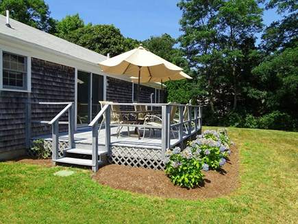 Orleans Cape Cod vacation rental - Our favorite spot – deck with two tables