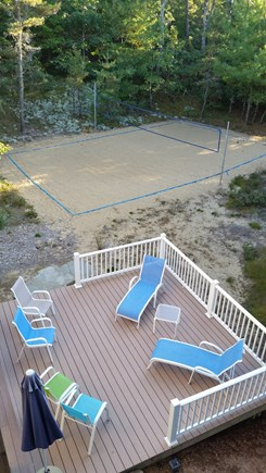 Wellfleet Cape Cod vacation rental - Lower Sun Deck with Sand Volleyball Court