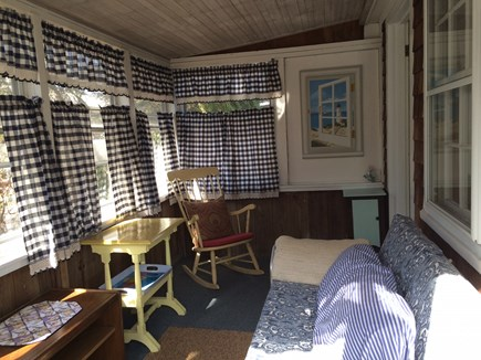 West Dennis Cape Cod vacation rental - Enjoy evening breezes on the screened-in porch!