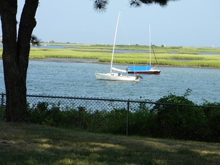South Yarmouth Cape Cod vacation rental - View picturesque saltwater Bass River from your private backyard