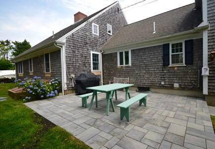 Orleans Cape Cod vacation rental - Back Patio with outdoor dining and grill safe from coastal wind