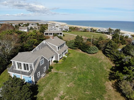 Orleans Cape Cod vacation rental - Aerial view of spacious yard and water view