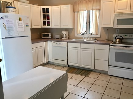 Dennis Port Cape Cod vacation rental - Kitchen with dishwasher, oven, microwave, toaster, coffeemaker.