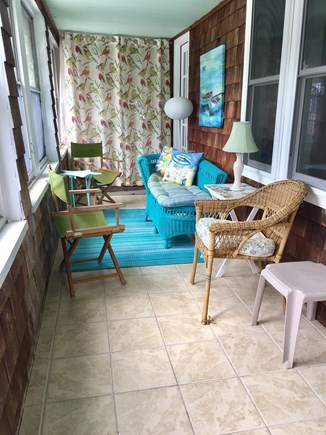 Dennis Port Cape Cod vacation rental - Side porch with washer and dryer.