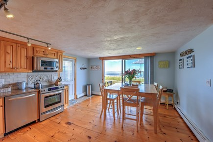 Sagamore Beach Sagamore Beach vacation rental - Dining table in Kitchen with ocean views.