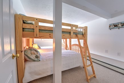Sagamore Beach Sagamore Beach vacation rental - Bedroom with Bunks on lower level.