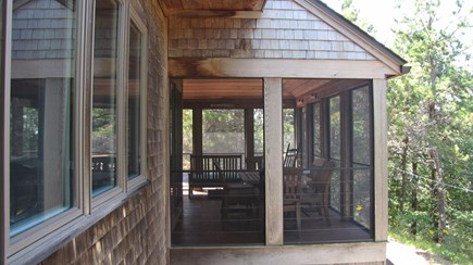 Truro Cape Cod vacation rental - View of the screened porch