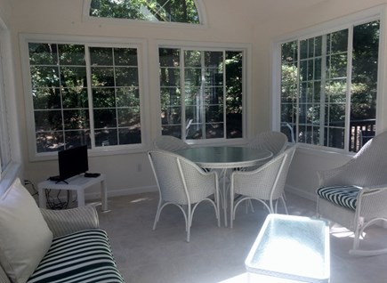 Truro, Wellfleet Cape Cod vacation rental - Screened sunroom