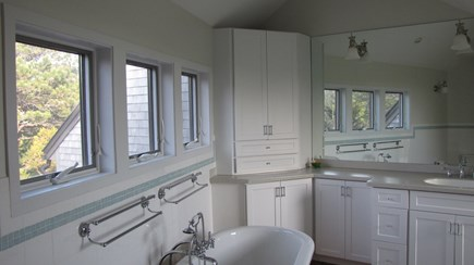 Truro Cape Cod vacation rental - Master bath with tub and separate shower.