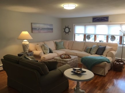 Harwich Cape Cod vacation rental - Spacious living room with beachy decor