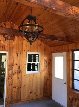 Dennisport Cape Cod vacation rental - Large screened in porch off the side of the house