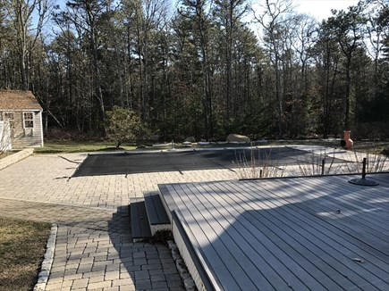 Bourne Cape Cod vacation rental - Back deck and pool