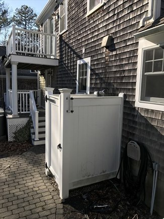Bourne Cape Cod vacation rental - Outside shower