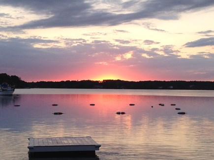South Dennis Cape Cod vacation rental - Sunset over Follins Pond, Headwaters of the Bass River, 2/10 mile